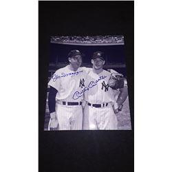 Joe Dimagio Mickey Mantle Autograph 8x10 Photo W/COA