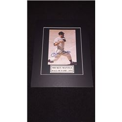 Mickey Mantle Autograph 11x14 Matted Photo W/COA