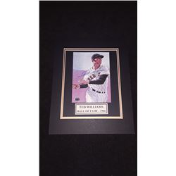 Ted Williams Autograph 11x14 Matted  Photo W/COA