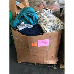 Contents of Large Tri-Wall Box: Linens, Blankets, Towels, etc