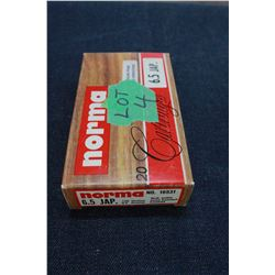 Factory Ammunition - 1 box of 6.5 Jap
