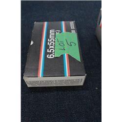 Factory Ammunition - 1 box of 6.5 x 55