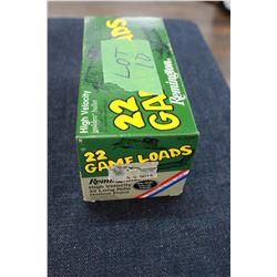 Factory Ammunition - Brick of 22 L.R. Game Loads