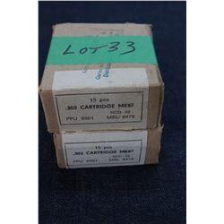 Factory Ammunition - 303 Cartridge MK8z (2 boxes)