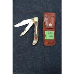 Schrade Old Timer Knife (2 Blade) and Holster