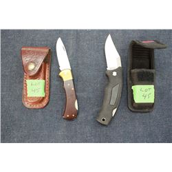 Lock Back Knives (2) with Holsters