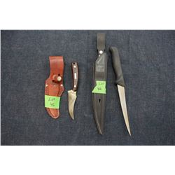 Schrade Knife and a Filet Knife with Sheaths