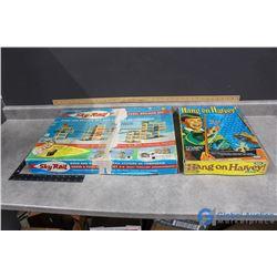 (2) Vintage Kid Games - Hand on Harvey and Sky Rail
