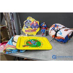 Superman Tray, Cake Pan, Blanket, Sleeping Bag, etc