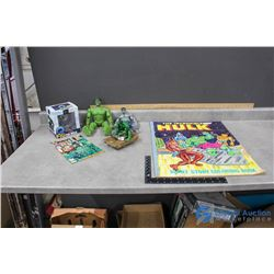 The Incredible Hulk Collector Toys, Comic and Giant Coloring Book (1977)