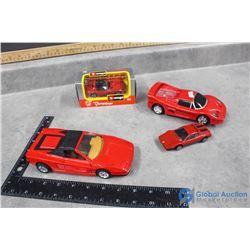 Red Toy Cars - Ferrari, Viper (in box), etc