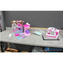 Sewing Machine and Magic Mixer Toys - Mixer in Original Box