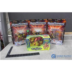 (4) Transformer/Animorphs Toy in Box