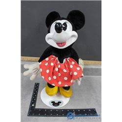 Vintage Woodsculp Disney's Mickey Mouse Doll with Stand