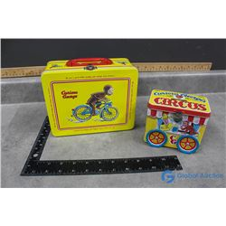 Curious George Tin Bank and Lunch Box