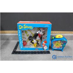 Rugrats Clock and Dr. Seuse Cat in the Hat in Box