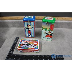 (2) Monopoly Tin Banks and Tin with Puzzle