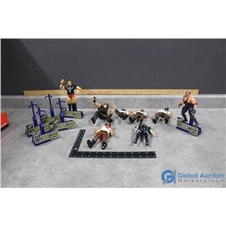 Toy Wrestlers and Stands