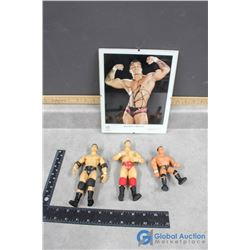 Randy Orton Signed Picture and Toys