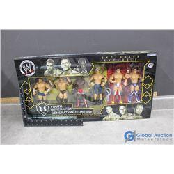 WWE Wrestlers Set in Box - John Cena, Rob Conway, Renee Dupree, etc