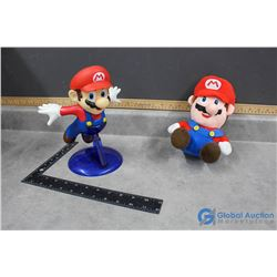 Mario Stuffy and Figurine with Stand