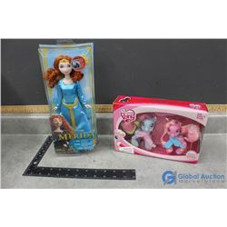 My Little Pony and Disney's Merida Doll In Box