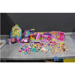 Large Collection of Polly Pocket Toys and Accessories