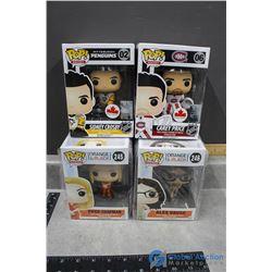 (4) POP! In Box Vinyl Figures - Carrey Price, Sidney Crosby, Orange is the New Black Characters
