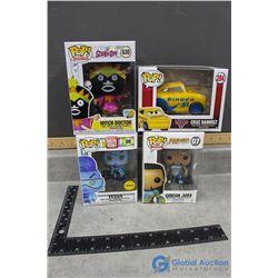 (4) POP! In Box Vinyl Figures- Yesss, GIdeon Jura, Witch Doctor and Cruz Ramirez