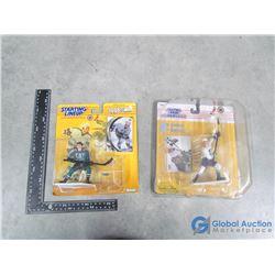 (2) Mighty Ducks Paul Kariya Figures in Packages