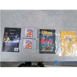 Nintendo N64 Games and Booklets