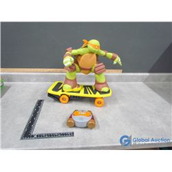 "Teenage Mutant Ninja Turtle Remote Control Skateboarding ""Mikey"""