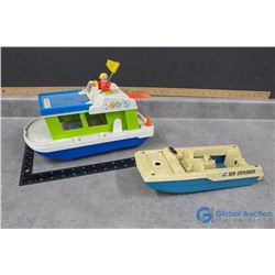 (2) Fisher Price Boats