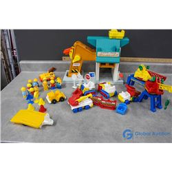 Fisher Price Little People Construction Toy Play Set, People, and Accessories