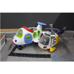 Fisher Price Plane and Helicopter