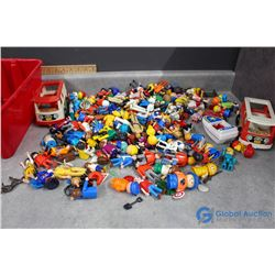 Large Lot of Fisher Price Little People and Accessories