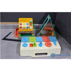 Vintage Fisher Price Register, Cabin and Toy
