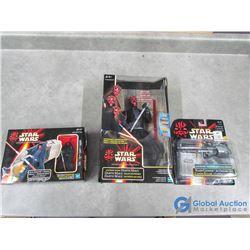 (3) Star Wars Toys in Box