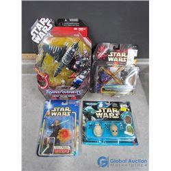 (4) Star Wars Toys in Box
