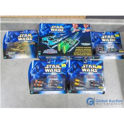 (5) Star Wars Podracers in Box and Packages
