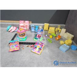 Polly Pocket Play Sets and Doll House Furniture - Strawberry Shortcake, etc