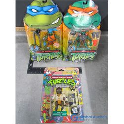 (3) Teenage Mutant Ninja Turtles Toys in Packages