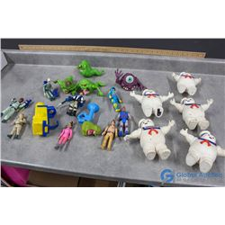 Ghost Buster Toys and Fire House Play Set