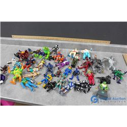 Assorted Toy Figures - Goose Bumps, X-Men, Batman, etc