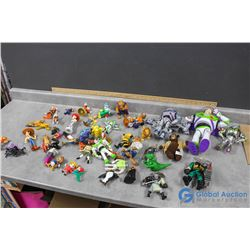 Assortment of Disney/Pixar Toys - Beauty & The Beast; Toy Story; Snow White; Pinnochio; etc