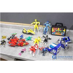 Assortment of Power Ranger Toys