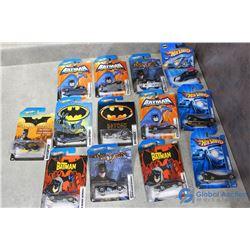 (13) Batman Hotwheels Cars in Package