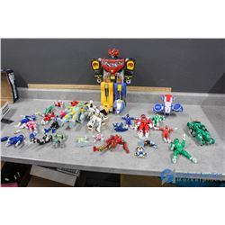 Assortment of Power Ranger Toys including Megazord