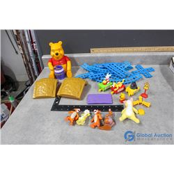 Winnie The Pooh Train Track and Bubble Machine & Assorted Toys