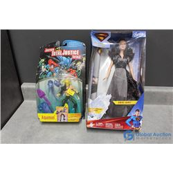 Lois Lane Barbie & Aquaman in Packages